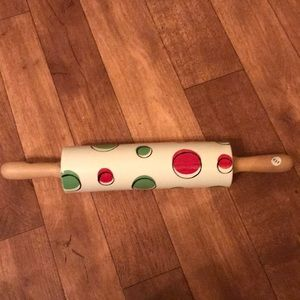 Christmas ceramic rolling pin